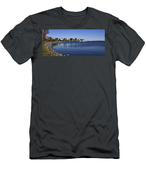 The Capitol And Monona Terrrace - Madison - Wisconsin Men's T-Shirt (Athletic Fit)
