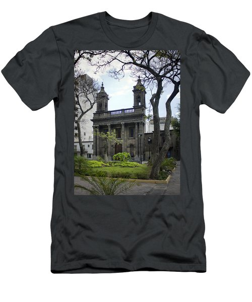 Men's T-Shirt (Slim Fit) featuring the photograph The Church Green by Lynn Palmer