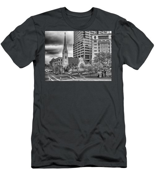 Men's T-Shirt (Athletic Fit) featuring the photograph The Church by Howard Salmon