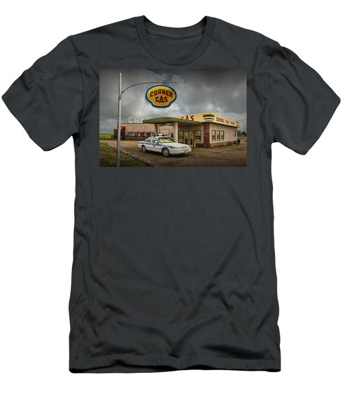 The Corner Gas Station From The Canadian Tv Sitcom Men's T-Shirt (Athletic Fit)