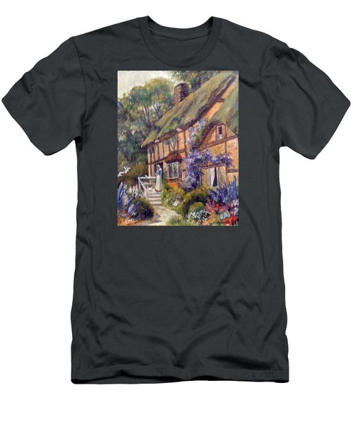 Men's T-Shirt (Slim Fit) featuring the painting The Cottage by Donna Tucker