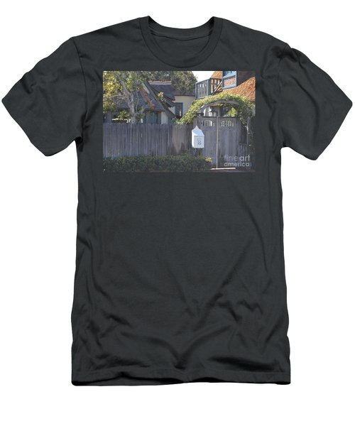 Men's T-Shirt (Athletic Fit) featuring the photograph The Courtyard  by Laurie Lundquist