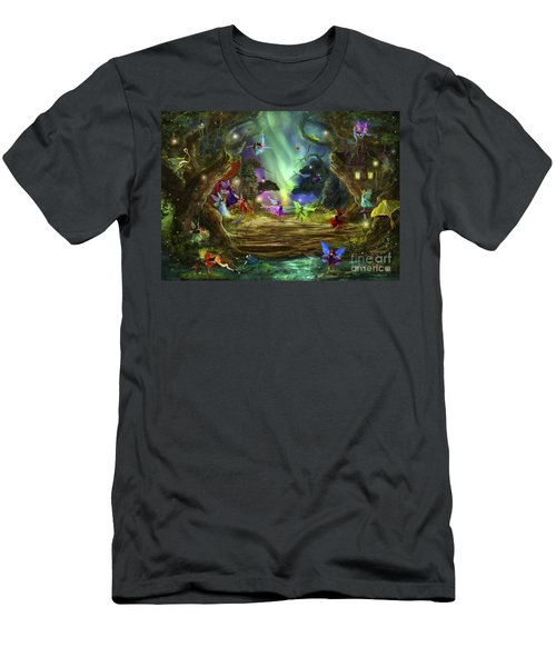 The Dancing Auroras Men's T-Shirt (Athletic Fit)