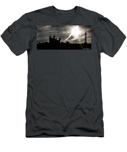 Men's T-Shirt (Athletic Fit) featuring the photograph The Dark Towers by Stwayne Keubrick