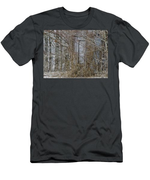 Men's T-Shirt (Slim Fit) featuring the photograph The Door To The Past by Wilma  Birdwell