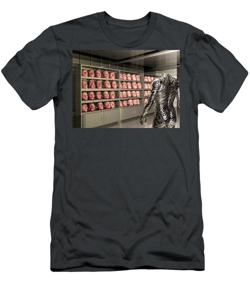 Men's T-Shirt (Slim Fit) featuring the digital art The Doppleganger by John Alexander