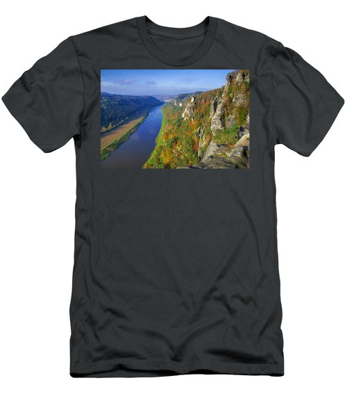 The Elbe Sandstone Mountains Along The Elbe River Men's T-Shirt (Athletic Fit)
