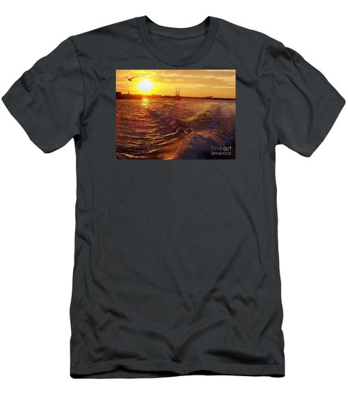 The End To A Fishing Day Men's T-Shirt (Slim Fit) by John Telfer