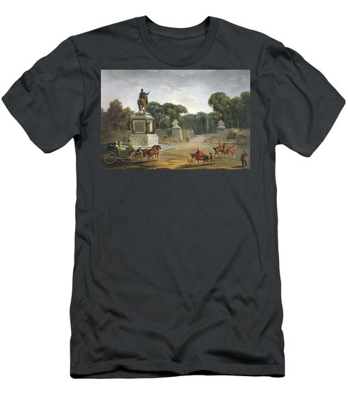 The Entrance To The Tuileries From The Place Louis Xv In Paris, C.1775 Oil On Canvas Men's T-Shirt (Athletic Fit)