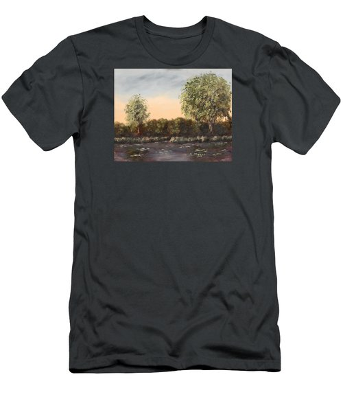 The Far End Of The Pond Men's T-Shirt (Slim Fit) by Alan Mager
