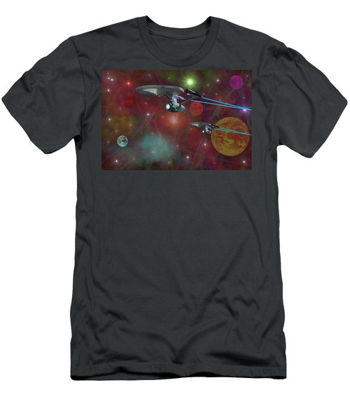 The Final Frontier Men's T-Shirt (Slim Fit) by Michael Rucker