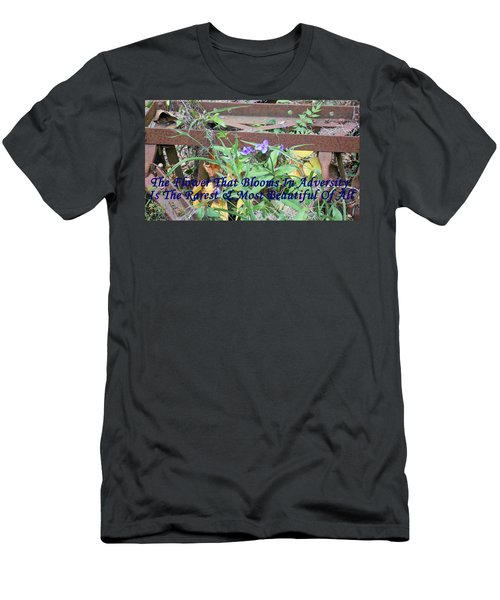 The Flower That Blooms In Adversity  Men's T-Shirt (Athletic Fit)