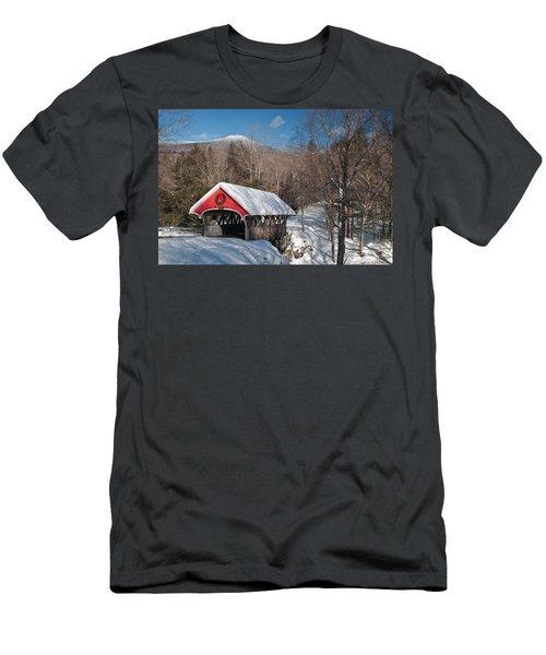 The Flume Bridge In Winter Men's T-Shirt (Athletic Fit)