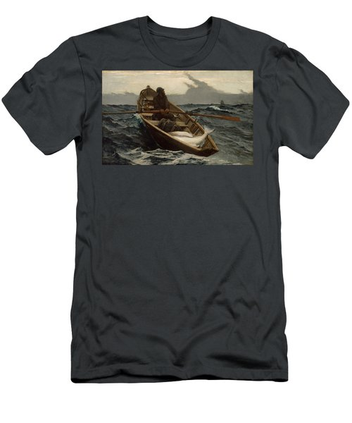 The Fog Warning .halibut Fishing Men's T-Shirt (Athletic Fit)
