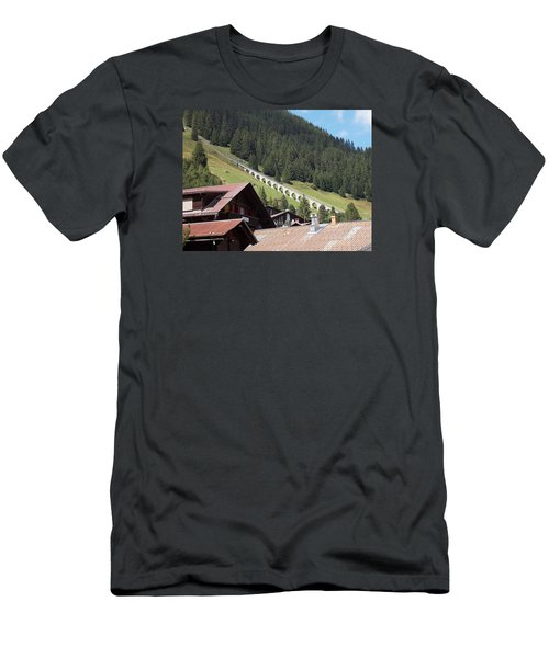 The Funicular In Murren Men's T-Shirt (Athletic Fit)