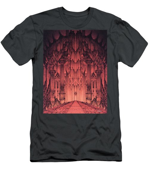 The Gates Of Barad Dur Men's T-Shirt (Slim Fit) by Curtiss Shaffer