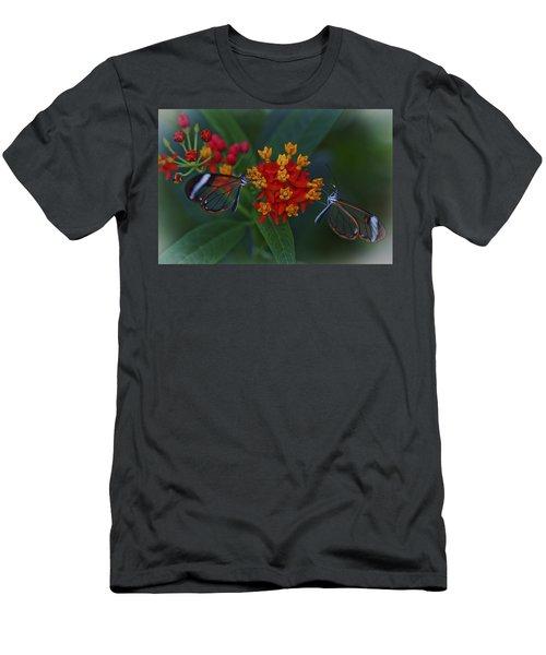 The Glasswinged Butterfly Men's T-Shirt (Slim Fit) by Maj Seda
