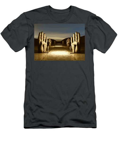 The Great Divide Men's T-Shirt (Slim Fit) by John Alexander