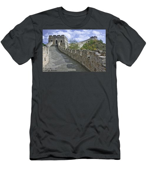 The Great Wall Of China At Mutianyu 1 Men's T-Shirt (Athletic Fit)