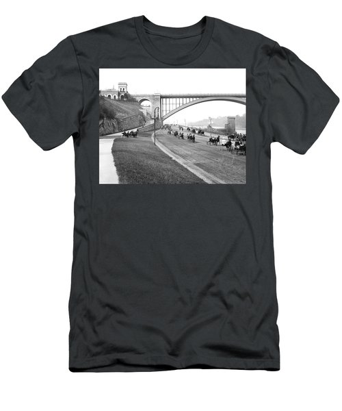 The Harlem River Speedway Men's T-Shirt (Slim Fit) by Detroit Publishing Company