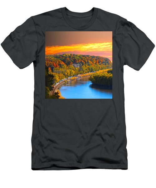 The Hobo Train Up The Mississippi Men's T-Shirt (Athletic Fit)