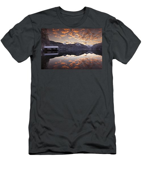 The Hut By The Lake Men's T-Shirt (Athletic Fit)