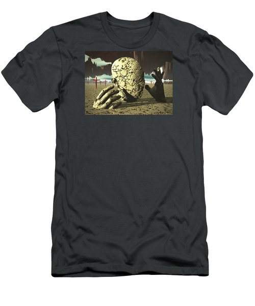Men's T-Shirt (Slim Fit) featuring the digital art The Immutable Dream by John Alexander