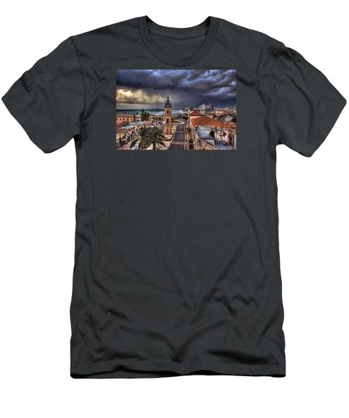 the Jaffa old clock tower Men's T-Shirt (Slim Fit) by Ronsho