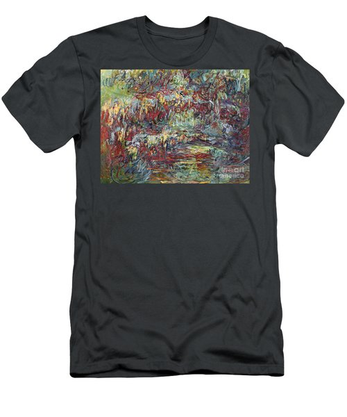 The Japanese Bridge At Giverny Men's T-Shirt (Athletic Fit)