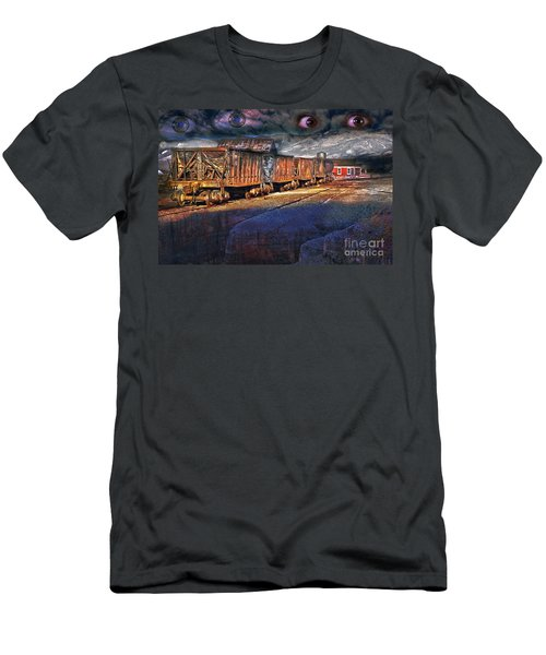 Men's T-Shirt (Athletic Fit) featuring the photograph The Last Shipment by Gunter Nezhoda