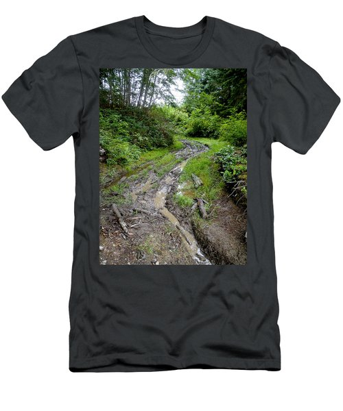 The Ledge Point Trail Men's T-Shirt (Slim Fit) by Roxy Hurtubise