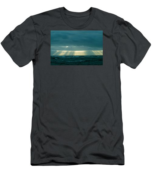 Men's T-Shirt (Slim Fit) featuring the photograph The Light Above Kapoho by Lehua Pekelo-Stearns