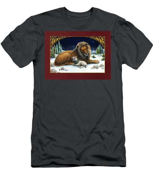 The Lion And The Lamb Men's T-Shirt (Athletic Fit)
