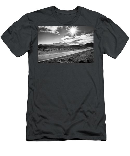 Men's T-Shirt (Athletic Fit) featuring the photograph The Lonely Road by Howard Salmon