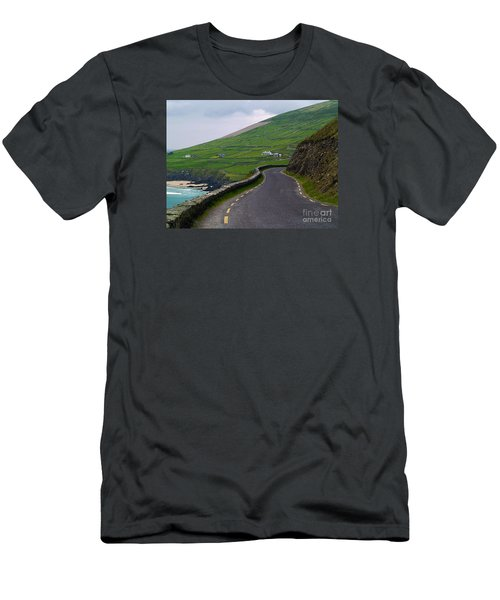 The Long And Winding Road Men's T-Shirt (Slim Fit) by Patricia Griffin Brett