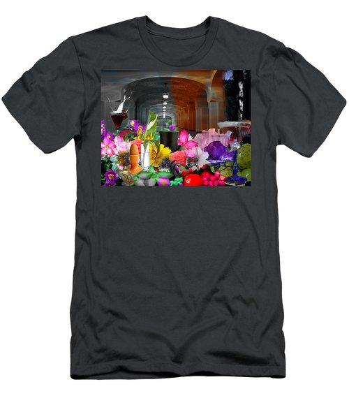 Men's T-Shirt (Slim Fit) featuring the digital art The Long Collage by Cathy Anderson