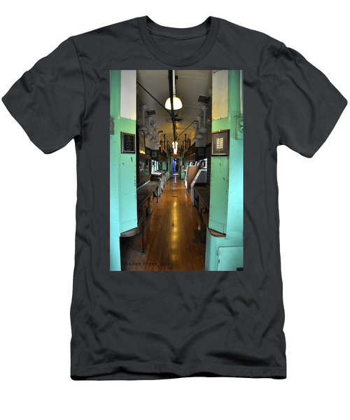 Men's T-Shirt (Slim Fit) featuring the photograph The Mail Car From The Series View Of An Old Railroad by Verana Stark