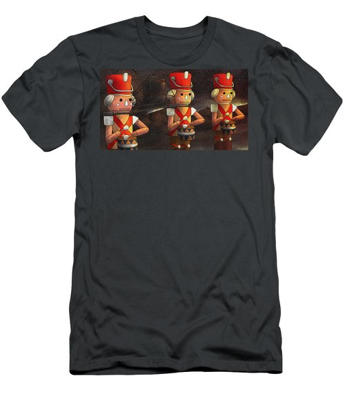 Press Release Christmas Nut Crackers Men's T-Shirt (Athletic Fit)