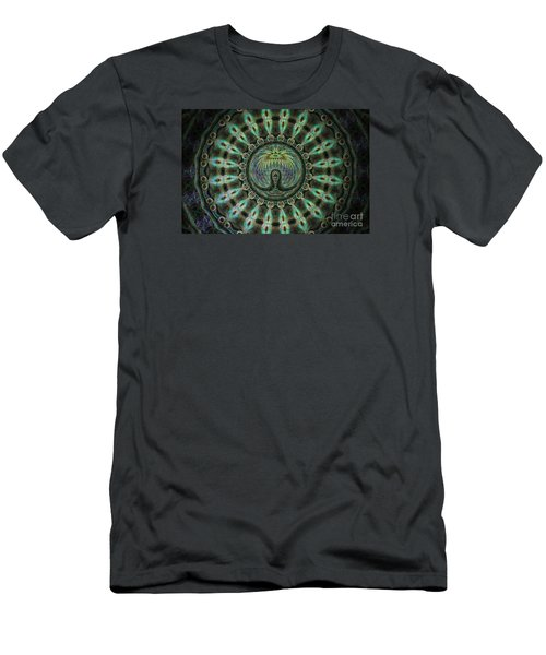 Men's T-Shirt (Slim Fit) featuring the photograph The Mask by Donna Brown
