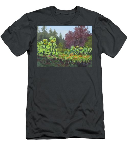 Men's T-Shirt (Slim Fit) featuring the painting The Matriarchs by Karen Ilari