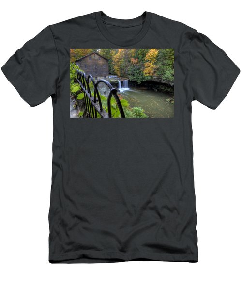 The Mill And Falls At Mill Creek Park Men's T-Shirt (Athletic Fit)