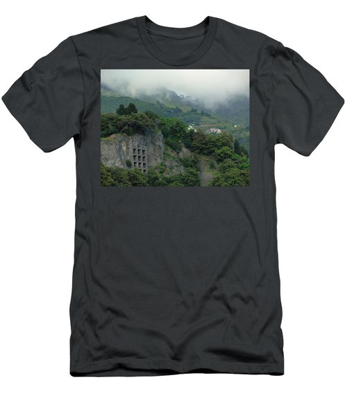 Men's T-Shirt (Slim Fit) featuring the photograph The Mist Cometh by Natalie Ortiz