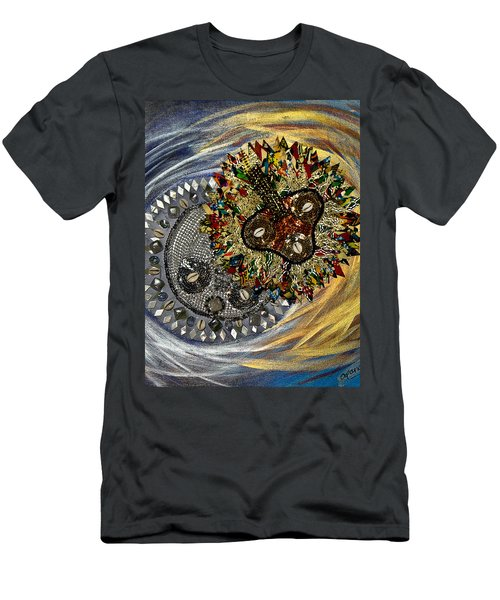 The Moon's Eclipse Men's T-Shirt (Slim Fit) by Apanaki Temitayo M