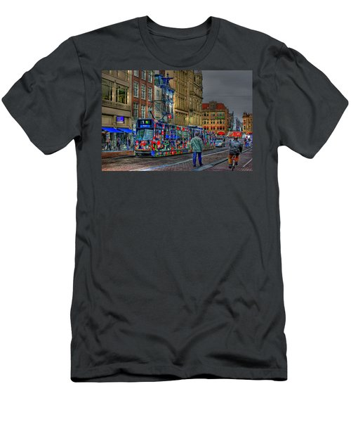 Men's T-Shirt (Slim Fit) featuring the photograph The Morning Rhythm by Ron Shoshani