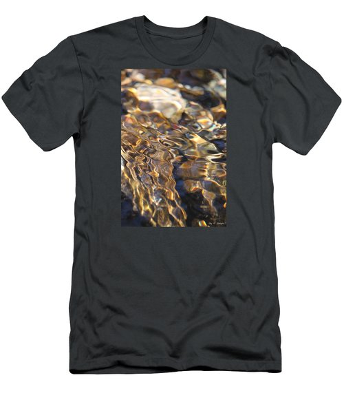 Men's T-Shirt (Slim Fit) featuring the photograph The Music And Motion Of Water by Amy Gallagher
