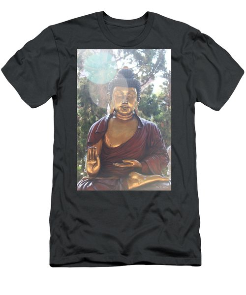 Men's T-Shirt (Slim Fit) featuring the photograph The Mystical Golden Buddha by Amy Gallagher