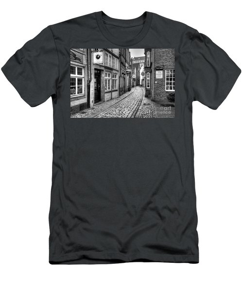 The Narrow Cobblestone Street Men's T-Shirt (Athletic Fit)