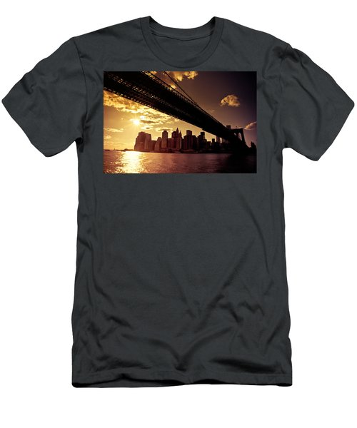 The New York City Skyline - Sunset Men's T-Shirt (Athletic Fit)