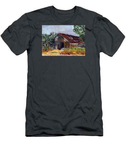 The Old Barn Men's T-Shirt (Slim Fit) by Michael Helfen