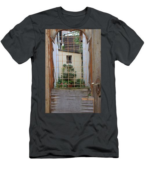 Memories Made Beyond This Old Door Men's T-Shirt (Athletic Fit)